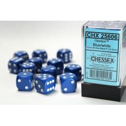 Blue w/white Opaque 16mm d6...